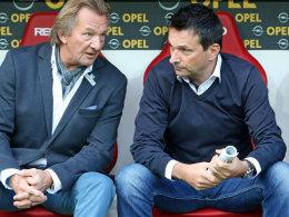 Der Mainzer Präsident Harald Strutz und sein Manager Christian Heidel.
