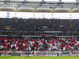 Fans von Eintracht Frankfurt beim 3:2-Sieg gegen Wolfsburg