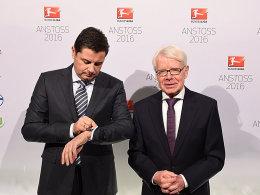 Präsentierten ein gutes Ergebnis: DFL-Ligapräsident Reinhard Rauball (rechts) und DFL-Geschäftsführer Christian Seifert.