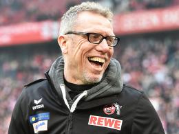 """""""Wir können auch gegen ganz starke Mannschaften gut aussehen"""": Kölns Trainer Peter Stöger."""