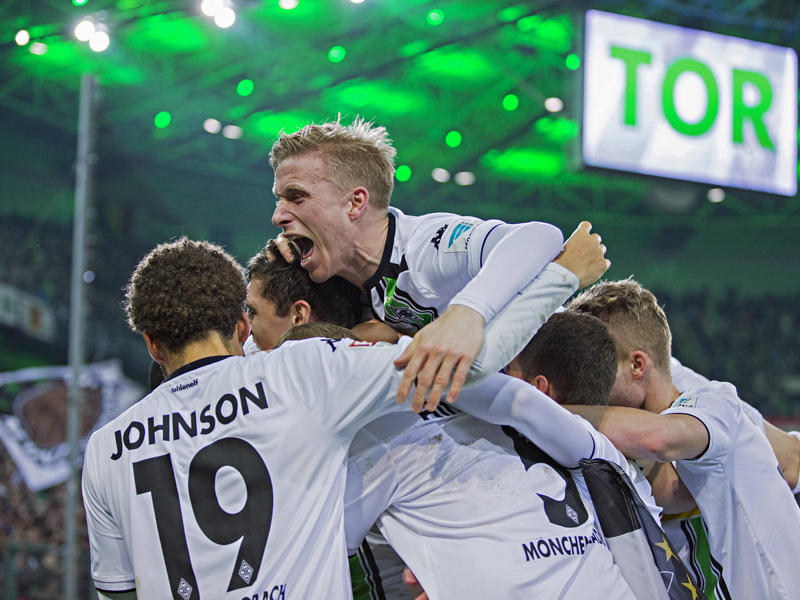Mönchengladbach jubelt über die Tor-Gala gegen Bremen