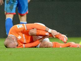 Schmerzen am starken linken Fuß, aber kein Bruch: Darmstadts Konstantin Rausch.