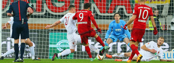 Lewandowski zur Führung: Flachschuss zum 1:0.
