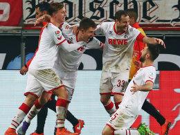 Köln jubelte gegen Frankfurt dreimal - 3:1 zum 68. Geburtstag.