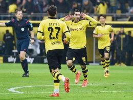 Dortmunds Mkhitaryan fand gegen Hannover die Lücke zum 1:0.