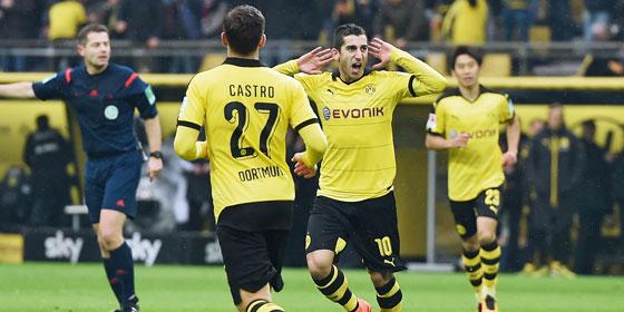 Dortmunds Mkhitaryan fand gegen Hannover die L�cke zum 1:0.
