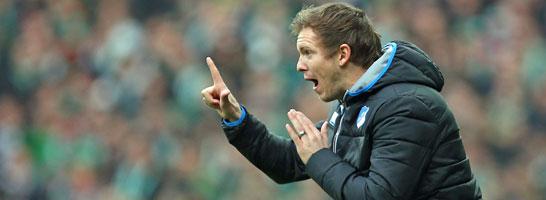 Hoffenheims Trainer-Deb�tant Julian Nagelsmann.