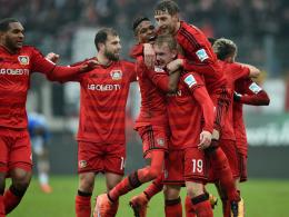 Kollektiver Leverkusener Jubel