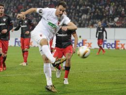 Unter der Woche häufig gefragt: Christoph Janker vom FC Augsburg.