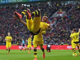 Treffer mit Auswirkungen: Dank Aubameyang siegte der BVB in Leverkusen - und löste heftige Diskussionen aus.
