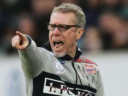 """""""Stimmungstechnisch befinden wir uns in einem Hoch"""": Kölns Trainer Peter Stöger."""