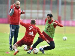 Pep Guardiola unter der Woche beim Bayern-Training