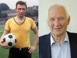 """1965 und 2014: Bundesliga-Urgestein Alfred """"Aki"""" Schmidt."""