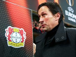 """""""Wir werden meine Sperre sehr gut kompensiert kriegen"""": Leverkusens Trainer Roger Schmidt."""