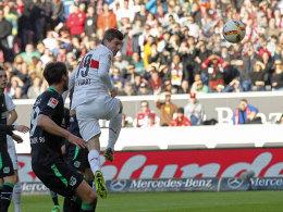 Stuttgarts Stürmer Timo Werner machte das 1:0 gegen Hannover.
