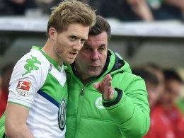 VfL-Trainer Dieter Hecking und Offensivmann André Schürrle.