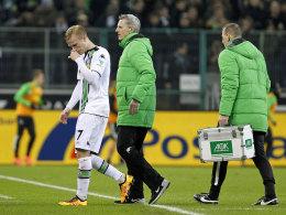 Schlich traurig vom Platz: Gladbachs Oscar Wendt droht mehrere Spiele auszufallen.