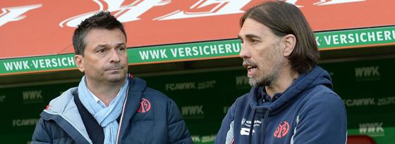Kluge Kaderzusammenstellung: Manager Christian Heiden (li.) und Trainer Martin Schmidt.