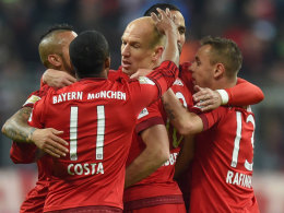 FC Bayern beim Torjubel