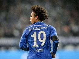 Leroy Sané beim Spiel gegen den FC Bayern