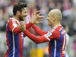 Claudio Pizarro und Arjen Robben