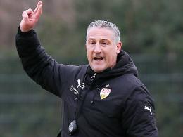 """""""In der Bundesliga sollte man nie rechnen"""": VfB Stuttgarts Cheftrainer Jürgen Kramny."""