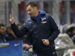 Gute Laune nach dem erneuten Sieg: Hertha-Coach Pal Dardai.