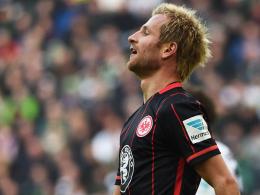 """""""Das ist viel zu wenig in der Offensive"""": Eintracht Frankfurts Flügelspieler Stefan Aigner."""