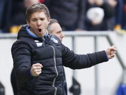 Peilt den ersten Auswärtssieg an: Hoffenheim Trainer Julian Nagelsmann will beim HSV einen Dreier.