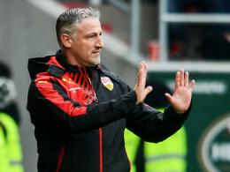 Beschäftigt sich nicht mit Vergangenem: Stuttgarts Trainer Jürgen Kramny.