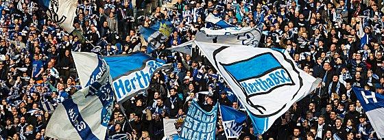 Durften über einen Sieg vor der Osterpause bejubeln: Hertha-Fans.