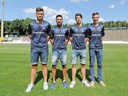 "Darmstadts ""Local Player"": Noel Wembacher, Ali Kazimi, Nick Volk und Jan Finger."