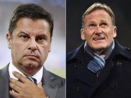 DFL-Geschäftsführer Christian Seifert, BVB-Boss Hans-Joachim Watzke