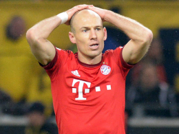 Muss weiter zusehen: Münchens Arjen Robben.