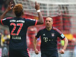Mann des 29. Spieltages: Franck Ribery (re.).