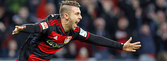 Leverkusens Mittelfeldmann Vladlen Yurchenko.