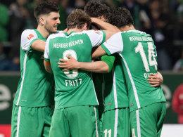 Werder Bremen bejubelt das zwischenzeitliche 5:2