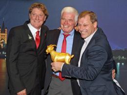 Toni Schumacher (li.), Werner Spinner (M.) und Markus Ritterbach.