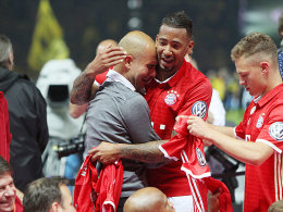 Pep Guardiola und Jerome Boateng