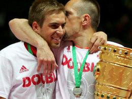Zwei Bayern-Spieler mit einer langen Sommerpause: Philipp Lahm und Franck Ribery.