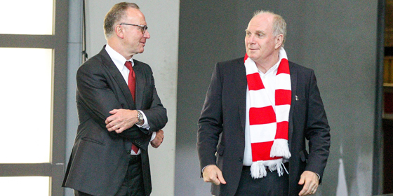 Karl-Heinz Rummenigge und Uli Hoene�