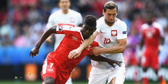 Breel Embolo im Achtelfinale gegen Polen