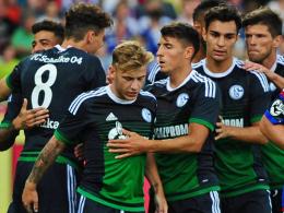 Max Meyer (vorne) erzielte das frühe 1:0 für Schalke.