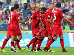 Gleich viermal durften die Leverkusener gegen die TuS aus Koblenz jubeln.