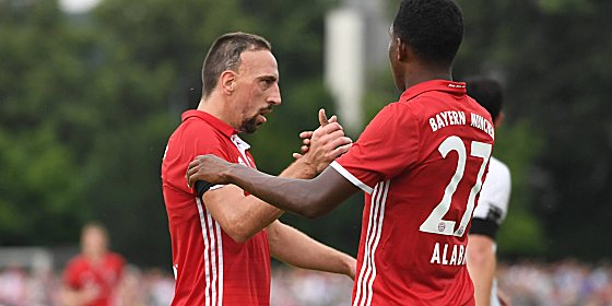 Franck Ribery (links) und David Alaba