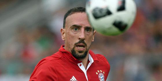 Bayerns Offensivspieler Franck Ribery