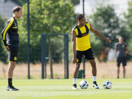 Sollen auch weiterhin eng zusammenarbeiten: BVB-Coach Thomas Tuchel (l.) und sein Angreifer Pierre-Emerick Aubameyang.