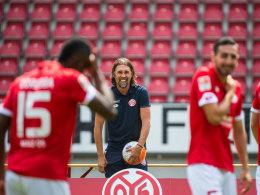Hat Spaß an der anspruchsvollen Aufgabe: Mainz-Coach Martin Schmidt.