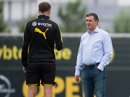 Trainer Thomas Tuchel und Sportdirektor Michael Zorc