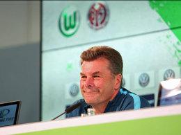 Wolfsburgs Trainer Dieter Hecking.
